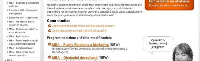 MBA studium u prestižní a zavedené školy