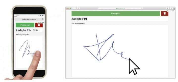 Elektronické podepisování dokumentů v e-learning platformě INSTRUCTOR